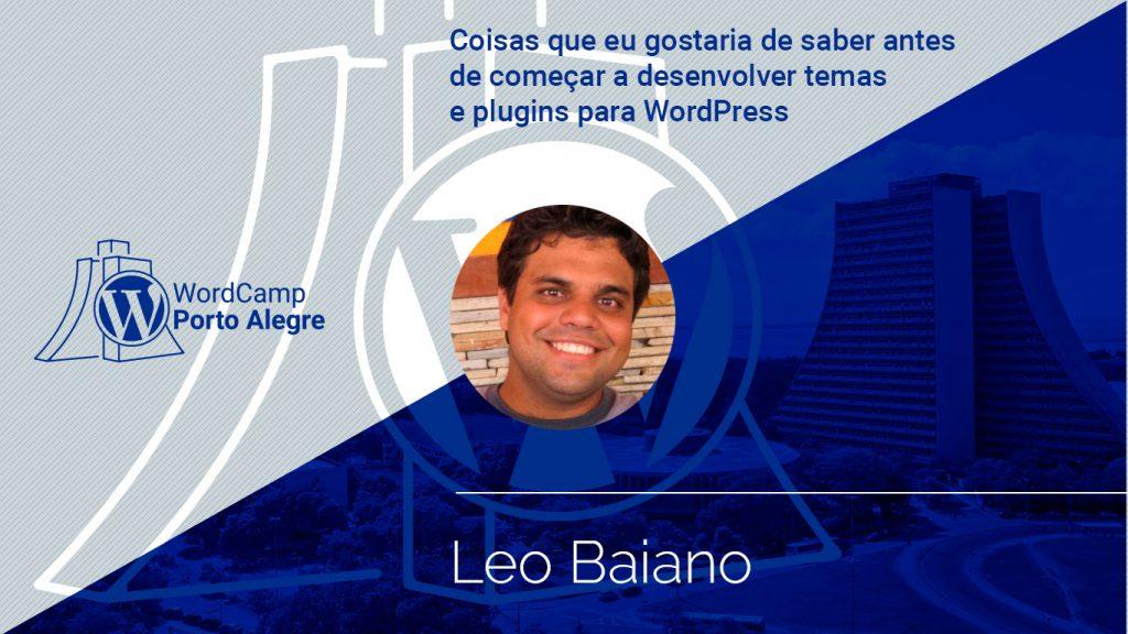 Palestra com Leo Baiano
