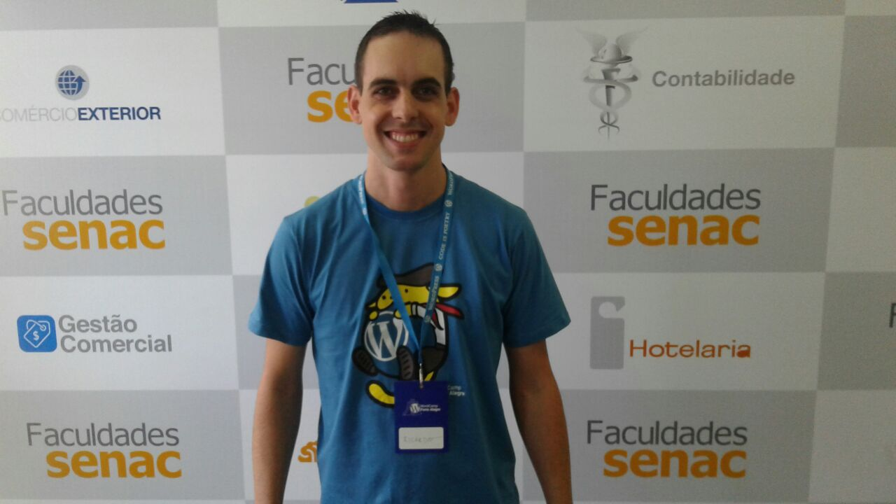 Ricardo Bernadi palestrante do wordcamp no evento 2017